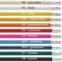 Ołówek z białą gumką