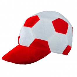 Czapka kibica, biały/czerwony A08775